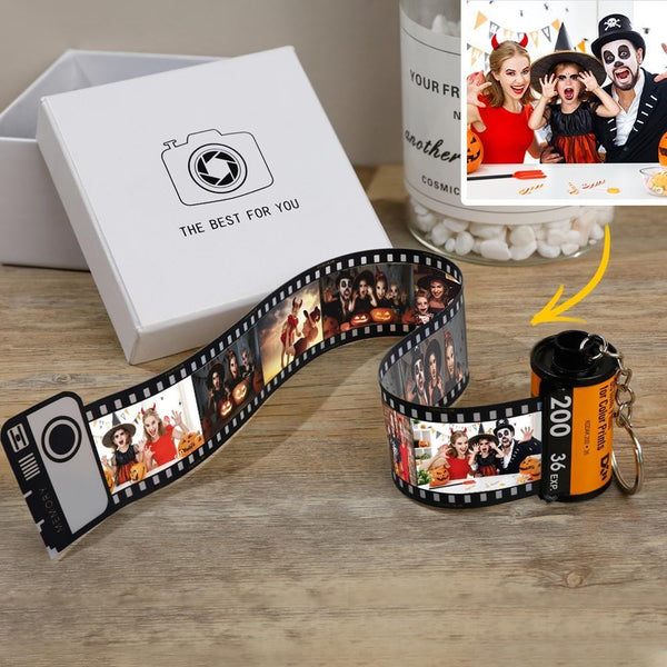 Personalized Halloween Photo Keychain Multiphoto Camera Roll
