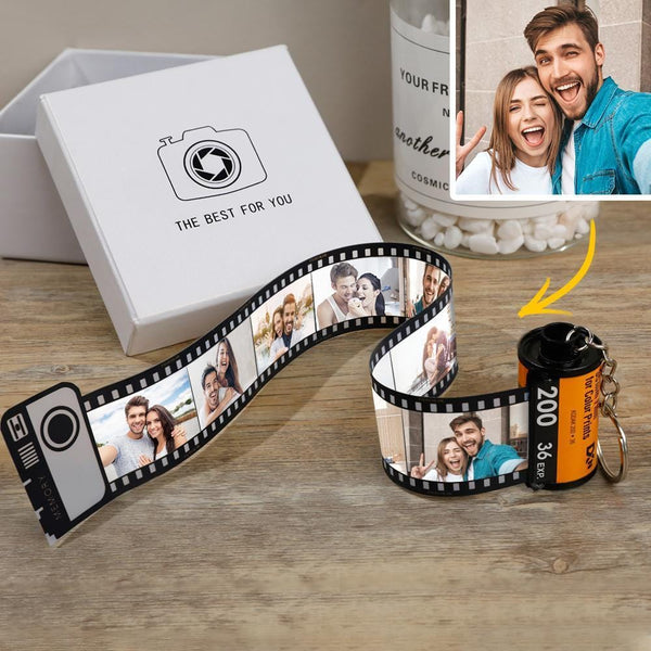 Custom Camera Roll Keychain Personalized Photo Keychain Multiphoto Camera Roll kodak keychain