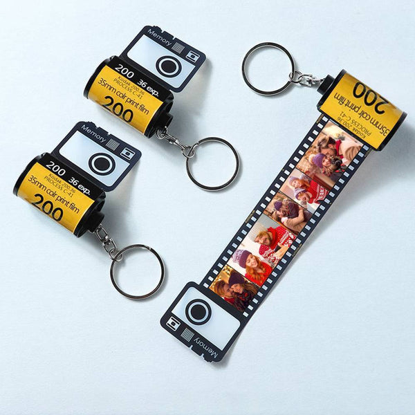 Custom  Keychain Multiphoto Colorful Camera Roll Romantic Customize Gifts for Lovers