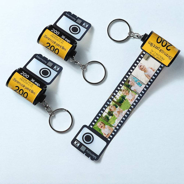 Custom  Keychain Multiphoto Colorful Camera Roll Creative Gifts