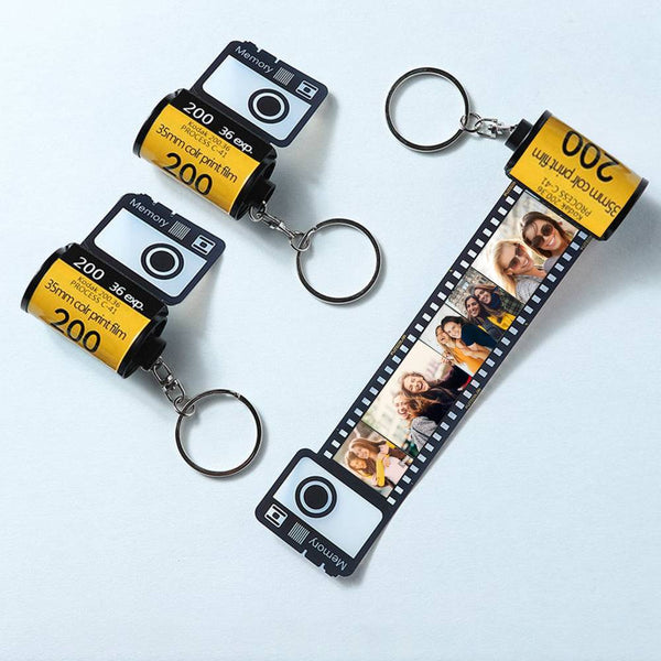 Photo Keychain Personalized Photo Keychain Multiphoto Camera Roll Unique Gifts