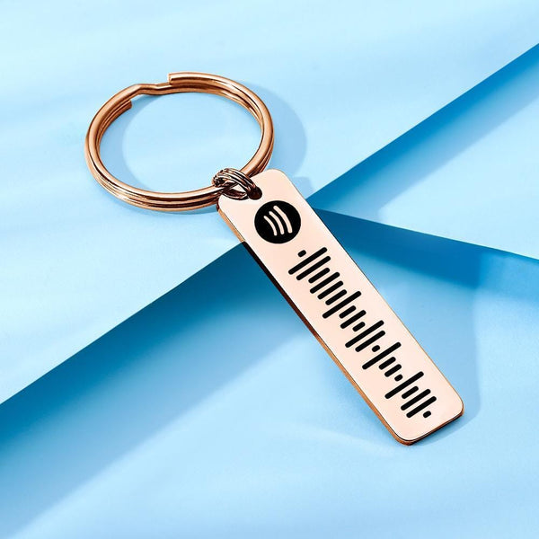 Scannable Spotify Code Keychain Custom Music Keychain
