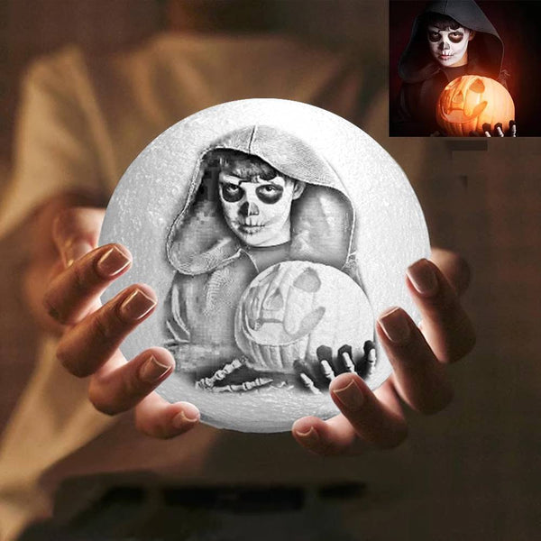 Halloween Gift Magic 3D Printing Moon Light Photo Engraved - Touch Two Colors 10-20cm