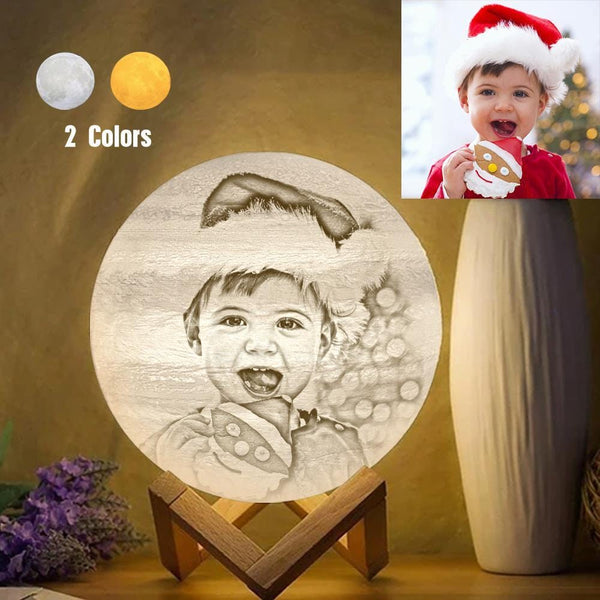 Custom Creative 3D Printed Jupiter Lamp Personalized Gift For Baby Christmas Gifts - Touch Two Colors (10-20cm)