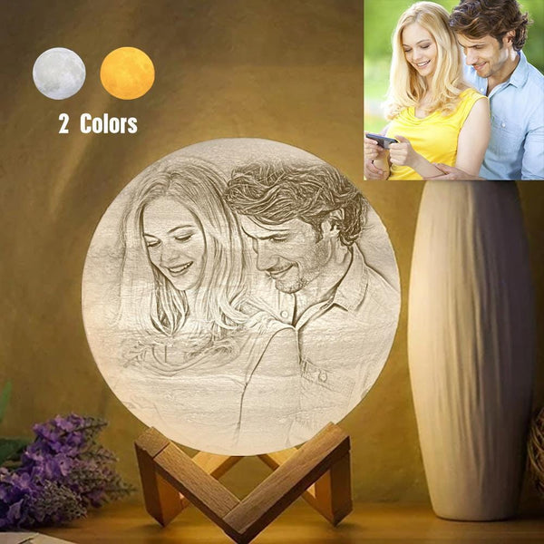 Custom Creative 3D Printed Jupiter Lamp Personalized Gift For Lover - Touch Two Colors (10-20cm)