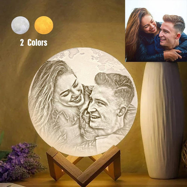 Magic Customized Earth Lamp With Text, Engraved Photo Lamp For Lover - Touch Two Colors (10-20cm)