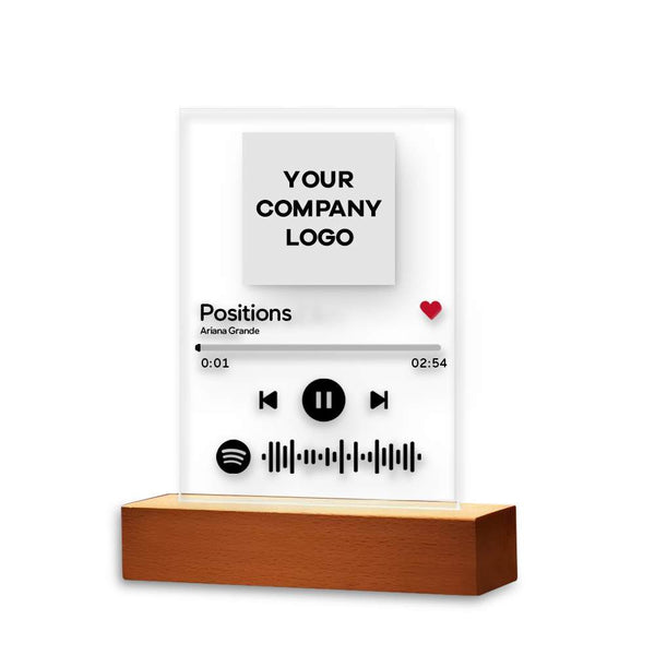 Spotify Plaque Night Lamp With Stand Company Souvenir Gifts for Staff