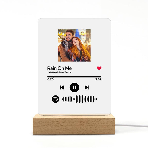 Custom Spotify Plaque Acrylic Music Plaque Night Lamp Anniversary Gifts For Her