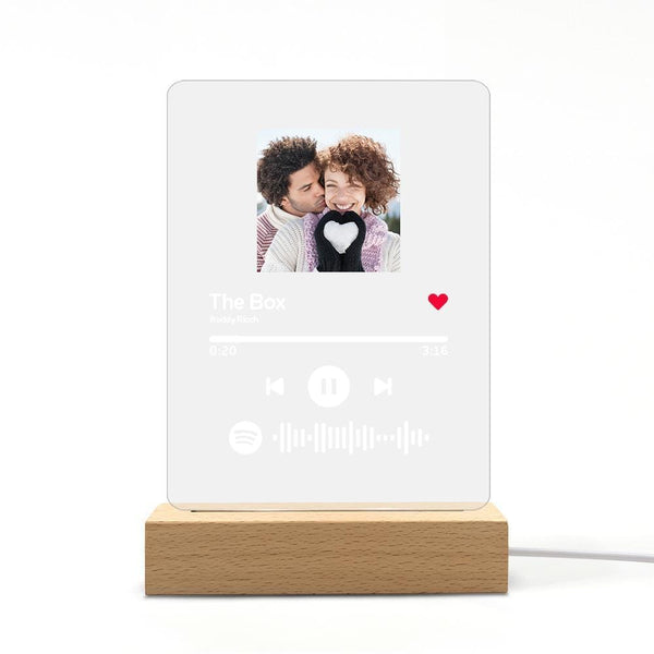 Spotify Music Plaque Night Light Personalized Spotify Code Anniversary Gifts