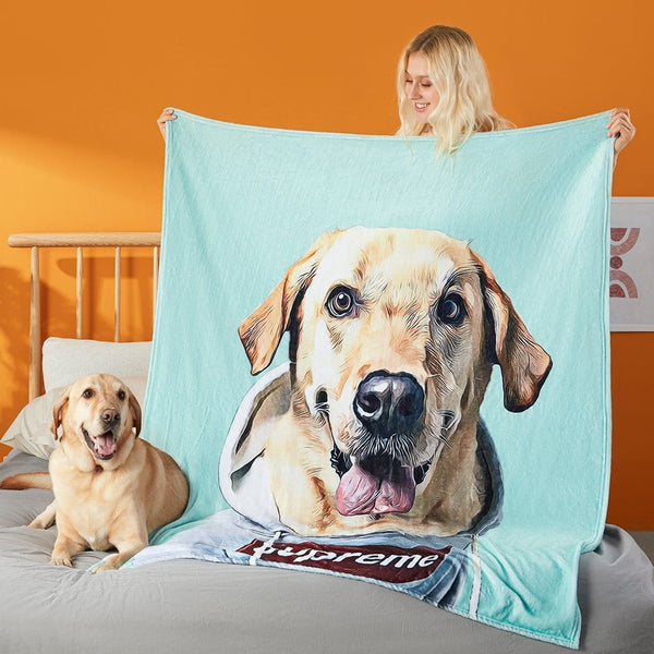 Personalized Throw Blanket with Your Pet Photo