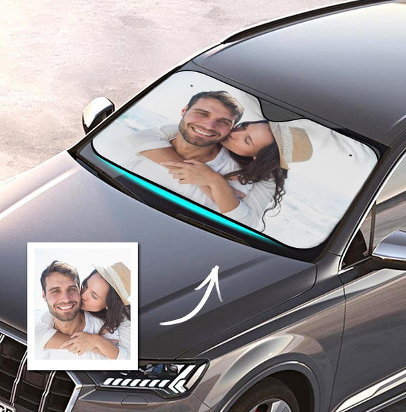 Custom Car Sun Shade Personalized Windshield Car Accessories for Lovers