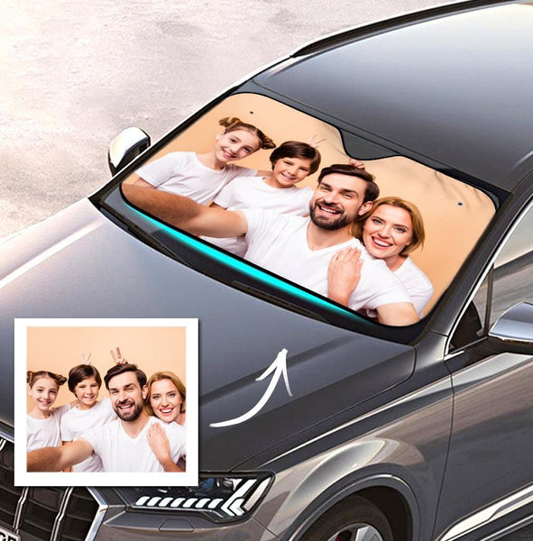 Custom Auto Sun Shade Car Sun Shade Windshield Car Accessories - Family