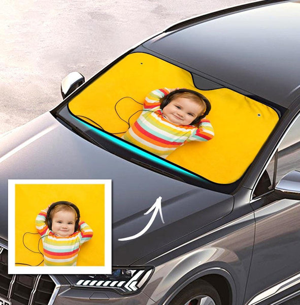 Custom Photo Car Sun Shade Windshield Car Accessories Baby