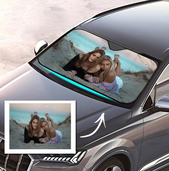 Custom Auto Sun Shade Car Sun Shade Personalized Windshield Car Accessories Friends