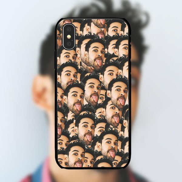 Custom Funny Face Mash iPhone Case