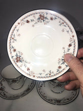 Load image into Gallery viewer, Noritake Ivory China 7237 Adagio Fantastic Condition 12 Cups & Saucers