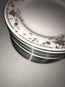 Noritake Ivory China 7237 Adagio Fantastic Condition 13 Dessert Plates 8.25""
