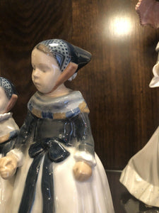 Royal Copenhagen Figures To Maidens With Pale About 7.5 Inches Perfect 1940s