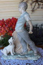Load image into Gallery viewer, Retired 1988 LLadro NAO 0161 Bullfighter Boy Figurine With Dog Perfect Condition