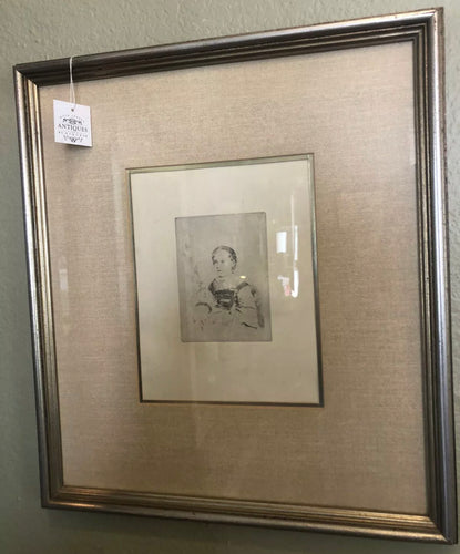 Fine Art Nice Edgar DEGAS Etching Mlle Nathalie Wolkonska Framed COA Park West Galleries