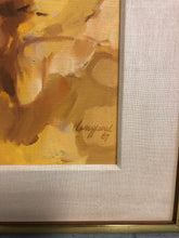 Load image into Gallery viewer, Mid Century Abstract Expressionist Oil Painting On Canvas Signed Langford 1967