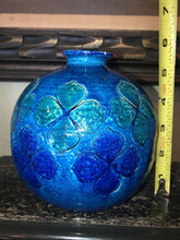 Load image into Gallery viewer, Mid Century Modern Italy Vase Rimini Blue Vintage Ceramic Art Pottery Floral