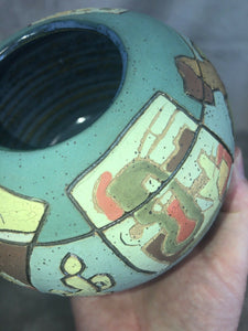 "Contemporary Art Pottery Artist Marty Ray Dallas TX Storytelling Line ""Art Talk"""