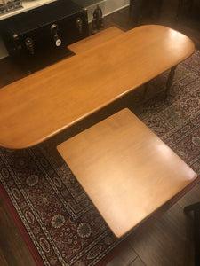 Conant Ball Mid Mod 3 Piece Coffee Table Hard Rock Maple Eames Era Surfboard