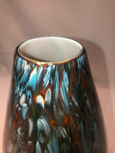 "Load image into Gallery viewer, Vintage Hand Blown Art Glass Vase Confetti Studio 13.5"" Tall"