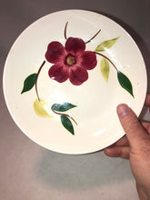 Load image into Gallery viewer, VINTAGE STETSON CHINA RIO RED FLORAL HAND PAINTED SERVING BOWL 8""