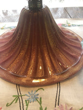 Load image into Gallery viewer, Mid Century Murano Art Glass Lamp 37 Inches Pink With Gold Fleck Eames Era Wow!