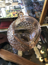 Load image into Gallery viewer, Anchor Hocking Vintage Ball Pitcher Slanted Ribbed Diamond Pattern Rose Glass
