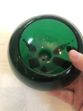 Load image into Gallery viewer, Vintage Forest Green Art Glass Bowl On 3 Feet Molded MCM Eames Era Atomic Cool