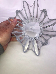 "Daum France Crystal Bowl ORION Starfish 12 Finger 7.75"" by 4"" Signed"