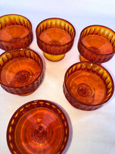 Load image into Gallery viewer, Set Of Fenton Glass Amberina Ribbed Pedestal Sherbet Glasses Each Perfect 3.5""