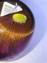 "Load image into Gallery viewer, Pilgrim Glass Hand Blown Optic Swirl Cranberry 7"" Vase Elegant Beautiful"