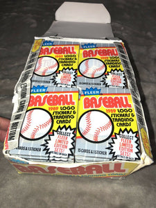 1989 Fleer Baseball Wax Packs 587 Ripken FF Error Card Run? Rookies? 36 Packs!