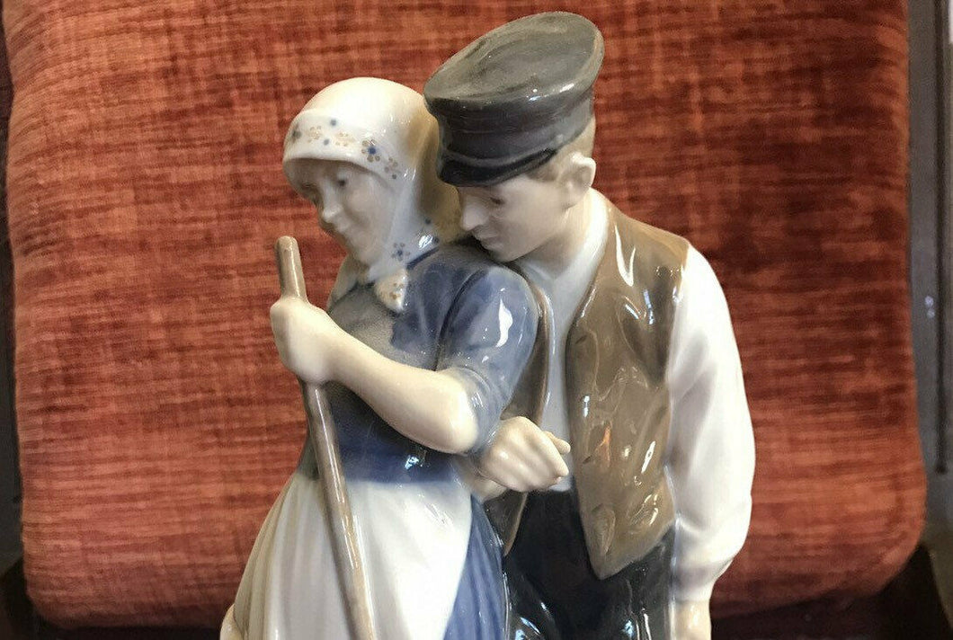 Royal Copenhagen Figurine #1300 Harvest Group Man and Woman 40s Perfect