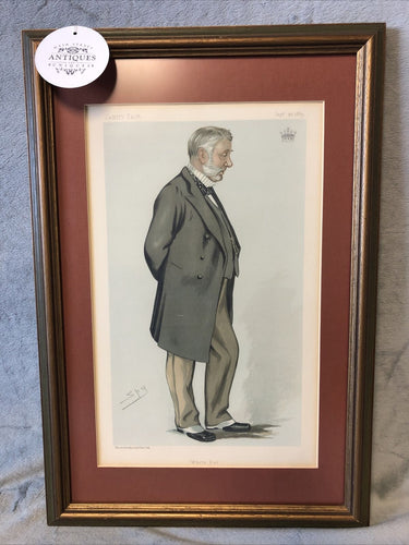 Antique Vanity Fair Sep 22 1883 Litho Spy Series Statesman #433 Earl Of Stair KT