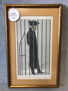 Antique Vanity Fair 1877 The Christian Martyr Lithograph Spy Series