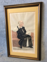 Load image into Gallery viewer, Antique Vanity Fair Mar 17 1888 Litho Spy Series Man Of Day Rev Harvey Goodwin