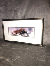 "Load image into Gallery viewer, David S Clow Watercolor Painting 18"" By 10"" Framed Signed Double Matting"