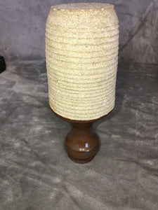 "Fantastic Studio Glazed And Raw Stoneware Vase 9"" Marked With Cartouche PR"