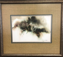 "Load image into Gallery viewer, Nanci Blair Closson ""Earth Series"" Original Watercolor Painting Original Frame"