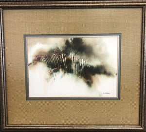 "Nanci Blair Closson ""Earth Series"" Original Watercolor Painting Original Frame"