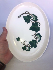 "California Ivy Poppy Trail by Metlox Plater 11"" By 8"" Mid Mod Eames Era"