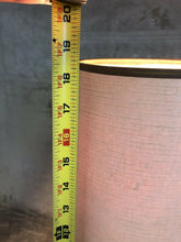 "Load image into Gallery viewer, Vintage 1950s Small Table Or Bedside Lamp 18.5"" With Shade Pink & Gold Eames Era"