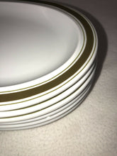 "Load image into Gallery viewer, Thomas Germany 6 White China With Avocado Green Striping Oval 11"" X 6 7/8"" Nice"