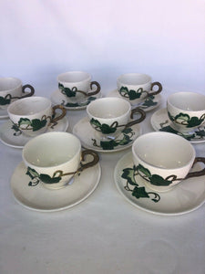 8 California Ivy Poppy Trail by Metlox Cup And Saucers Mid Mod Eames