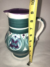 Load image into Gallery viewer, Rare Majolica Schramberg Ger. Violetta Cir 1915 Art Nouveau Pitcher